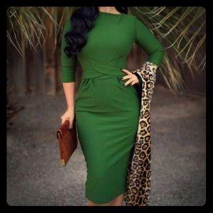 Pinup style wiggle dress